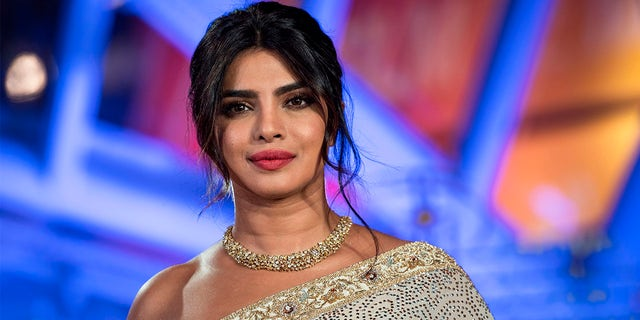 Indian actress Priyanka Chopra attends her tribute on Jemaa El Fnaa square during the 18th Marrakech International Film Festival on December 5, 2019, in Marrakech.