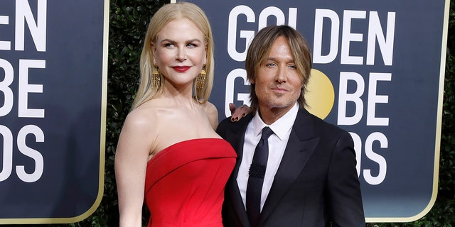 Nicole Kidman and Keith Urban are pictured here at the 2020 Golden Globes. The couple shares daughters Sunday Rose, 12, and Faith Margaret, 10.