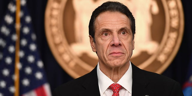New York Governor Andrew Cuomo speaks during a press conference to discuss the first positive case of novel coronavirus or COVID-19 in New York State on March 2, 2020 in New York City.(Photo by Angela Weiss / AFP) (Photo by ANGELA WEISS/AFP via Getty Images)