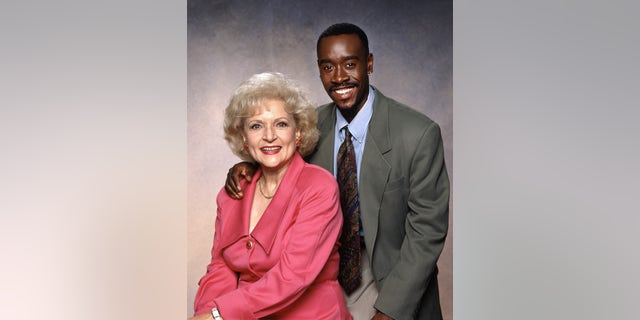 Betty White (as Rose Nylund), Don Cheadle (as Roland Wilson) in the CBS sitcom 'The Golden Palace,' circa 1992.