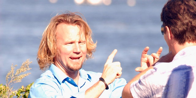Kody Brown of Sister Wives visits Plymouth Beach on September 10, 2011, in Plymouth, Massachusetts.