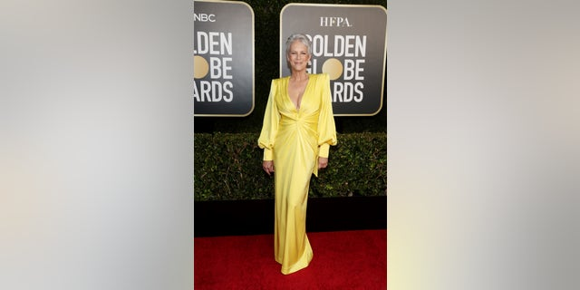Jamie Lee Curtis presented at the 2021 Golden Globes.-- (Photo by Todd Williamson/NBC/NBCU Photo Bank via Getty Images)