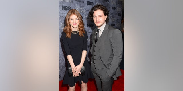 Actors Kit Harington and Rose Leslie attend HBO's 'Game Of Thrones' Season 3 Seattle Premiere on March 21, 2013, in Seattle, Washington.