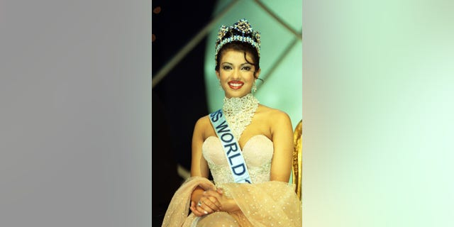 Miss World 2000 winner, Miss India, Priyanka Chopra, 18, during the Miss World contest at The Millennium Dome.