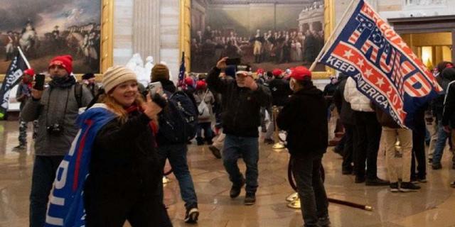 Jenny Louise Cudd inside the Capitol on Jan. 6 (criminal complaint)