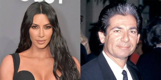 Kim Kardashian (left) took to Instagram to wish a happy birthday to her late father, Robert Kardashian Sr.