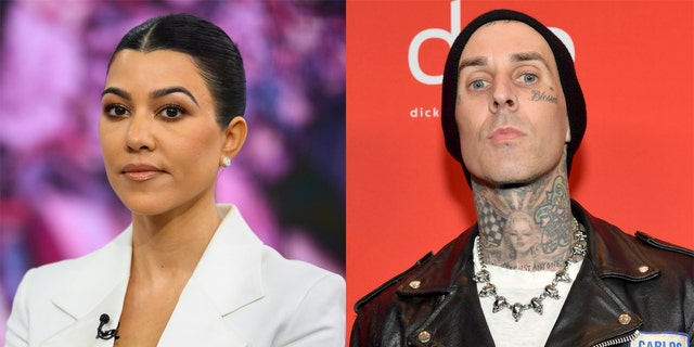 Kourtney Kardashian (left) made her relationship to Travis Barker (right) Instagram official shortly after Valentine's Day.