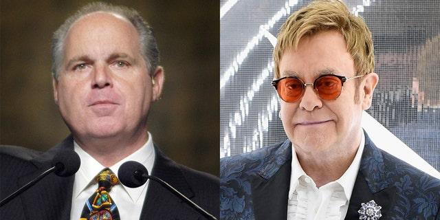 Elton John performed at Rush Limbaugh's wedding in 2010.