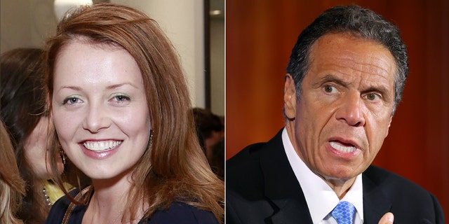 Lindsay Boylan and New York Governor Andrew Cuomo.  (Getty Images)
