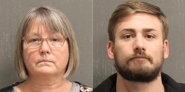 This booking photo released by the Metro Nashville, Tenn., Police Department, shows Lisa Marie Eisenhart,left, and Eric Gavelek Munchel. (Metro Nashville Police Department via AP)