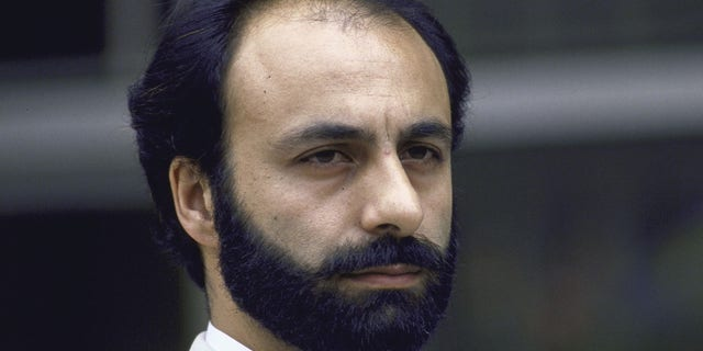 Iranian Ambassador to the U.N. Mohammad Mahallati speaking after a meeting with U.N. officials concerning implimentation of the Security Council resolution to end the Iran-Iraq war.