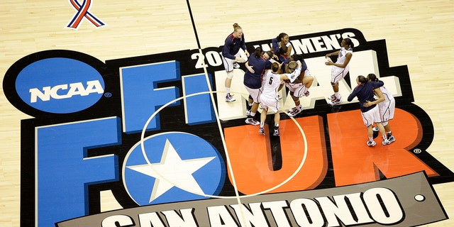 The San Antonio region will host the entire NCAA women's basketball tournament. The move Friday, Feb. 5, 2021, was made to help mitigate the risks of COVID-19 and matches that of the men's tournament, which the NCAA said last month will be played in the Indianapolis area.(AP Photo/Eric Gay, File)