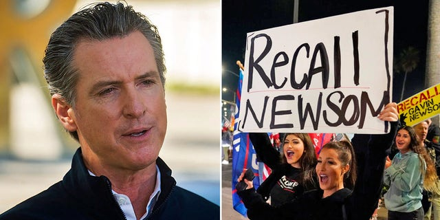 California Gov. Gavin Newsom has been accused of engaging in political posturing as he faces a recall effort against him.