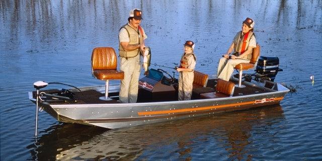 The original Bass Tracker boat.