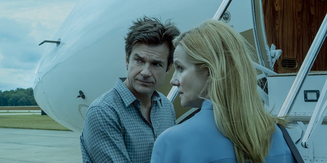 Netflix's 'Ozark' starring Jason Bateman (left) and Lauran Linney (right) earned four Golden Globe nominations this year.