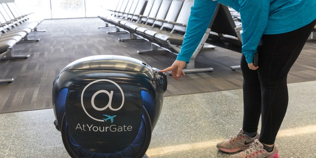 The Philadelphia International Airport launched a robotic food delivery program using gita robots on Monday.