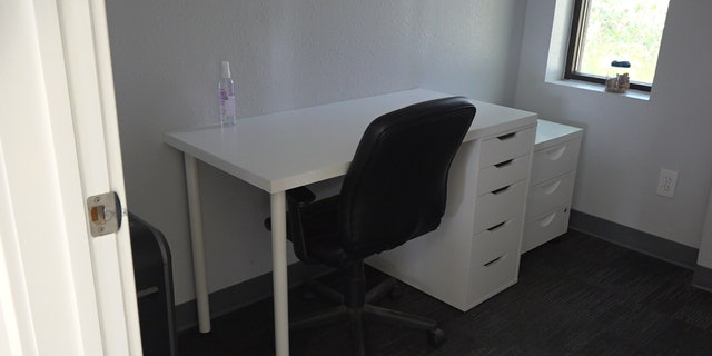 Work and Woof's individual workspaces allow for social distancing while the clients' dogs are in daycare.