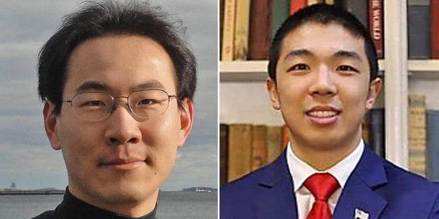 Qinxuan Pan (left) is charged with the murder of Kevin Jiang (right). So far, authorities have not announced a motive.