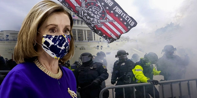 U.S. House Speaker Nancy Pelosi, a California Democrat, had one of her laptop computers stolen during the Jan. 6 riot at the U.S. Capitol, authorities have said. (Getty Images/photo illustration)