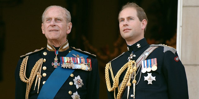 Prince Edward, Earl of Wessex (right) is the youngest son of Queen Elizabeth II and Prince Philip (left).
