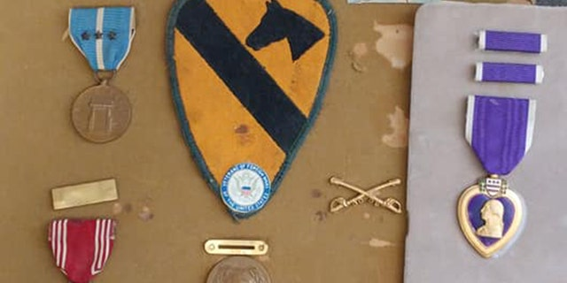 Teresa Ferrin discovered these military awards, including the Purple Heart, while she was volunteering at the Christian Family Care Thrift Store in Phoenix, Arizona, about two weeks ago.