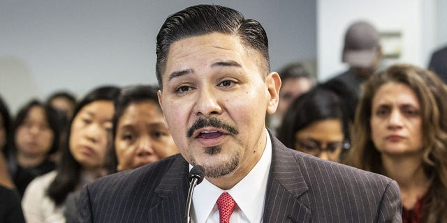 Richard Carranza, chancellor of the New York City Department of Education, speaks during a public hearing with Bill de Blasio, mayor of New York, not pictured, on school governance and mayoral control in New York, U.S., on Friday, March 15, 2019. De Blasio told MSNBC today that he hasn't precluded seeking the Democratic presidential nomination and says he's a