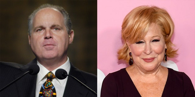Bette Midler compared Rush Limbaugh to the KKK on Twitter.