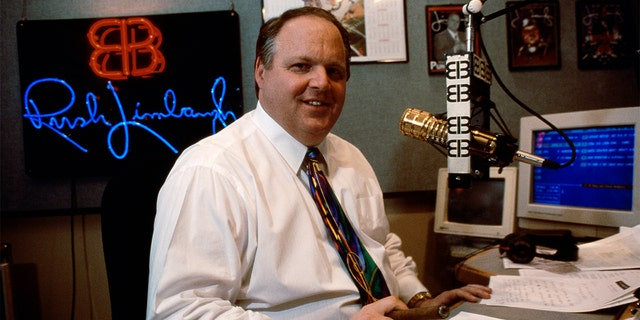 Rush Limbaugh in his studio in an undated photo.