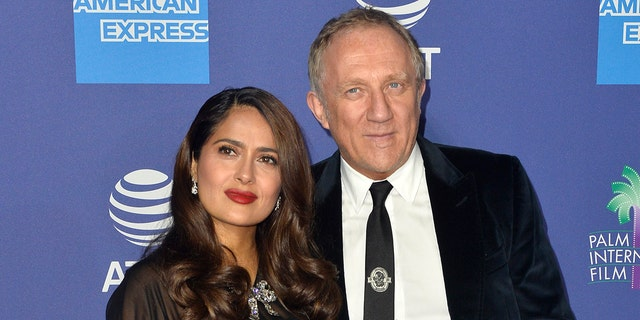 Salma Hayek shut down rumors that she married her husband, French billionaire François-Henri Pinault, for his money. (Photo by Jerod Harris/FilmMagic)