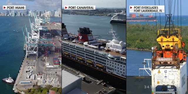 Florida is home to the three busiest cruise ports in the world: Port Miami, Port Canaveral, and Port Everglades respectively (Chris Pontius, Fox News).