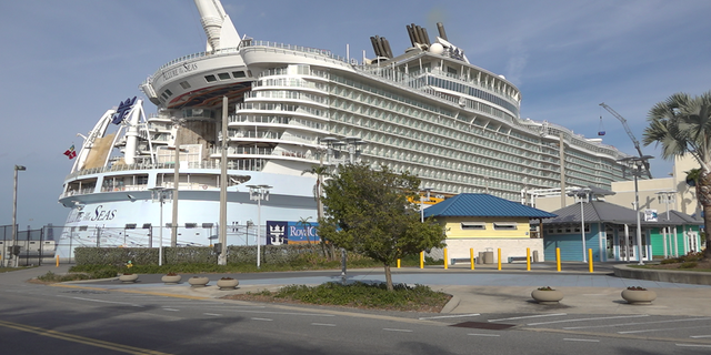 A cruise ship moored in Port Canaveral, Fla. in late January for maintenance (Robert Sherman, Fox News)