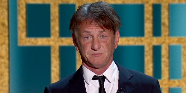 Sean Penn's appearance at the Golden Globes sparked jokes from viewers. (Photo by NBC/NBCU Photo Bank via Getty Images)