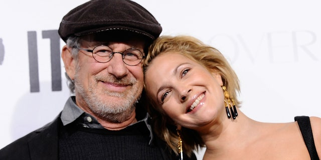 Steven Spielberg revealed that he sent Drew Barrymore a quilt reading 'cover up,' as well as an altered version of her Playboy spread after she posed for the magazine. (Photo by Alberto E. Rodriguez/Getty Images)