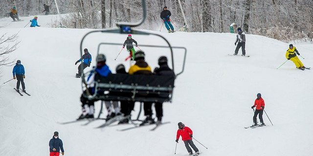 An 8-year-old girl fell around 25 feet from a ski lift on Sugarloaf Mountain. The resort is shown here in 2015.