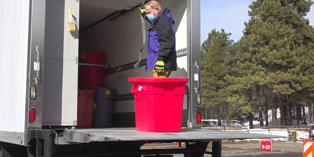 Flagstaff resident Russell Mann is helping dispose all of Coconino County's used COVID-19 syringes free of charge.