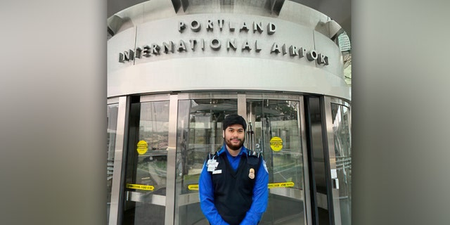 TSA officer Martin Rios at the Portland International Airport (TSA.gov)