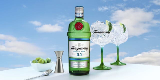 Tanqueray 0.0% is said to be crafted the same way as Tanqueray London Dry, but minus the alcohol. (Tanqueray)