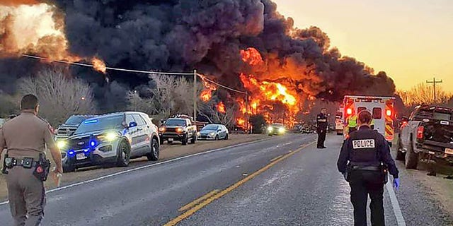 Cameron, Texas train derailment. (Chief Lonnie Gosch/Cameron Police Dept.)