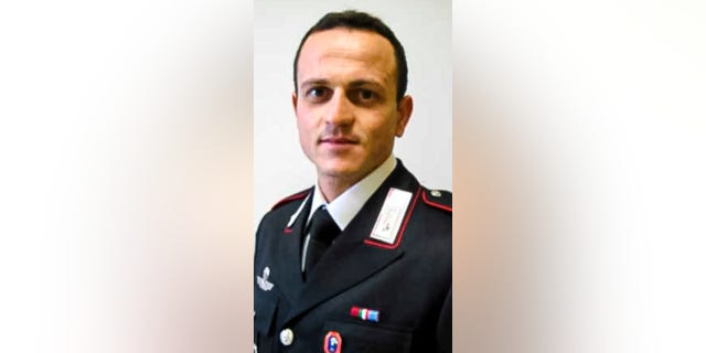 Carabinieri officer Vittorio Iacovacci was killed in an ambush on Monday, together with the Italian Ambassador to Congo Luca Attanasio. (Italian Carabinieri Press Office via AP)