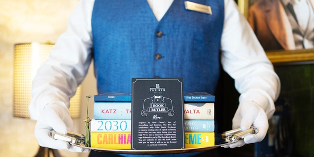 The Ben West Palm's Book Butler will hand deliver a complimentary book to guests as part of its new program, in partnership with The Palm Beach Book Store.