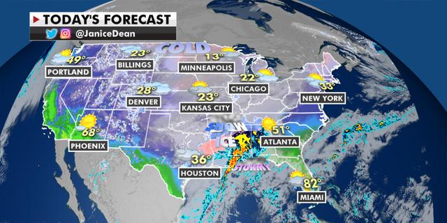 The national forecast for Wednesday, Feb. 17. (Fox News)