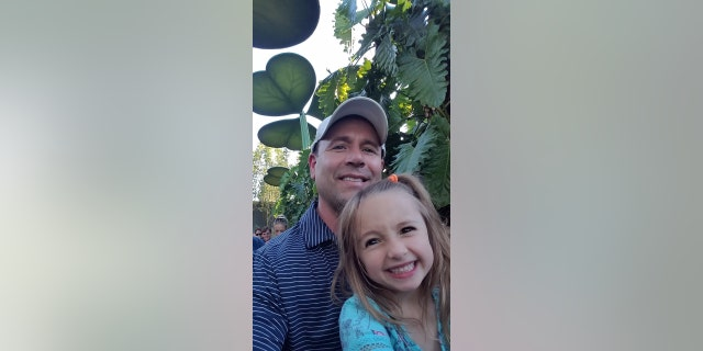 Bryan Moss and his 7-year-old daughter. (Credit: Bryan Moss)