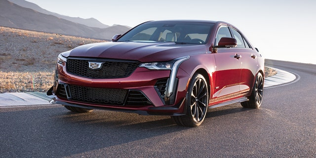 The Cadillac CT4-V Blackwing competes against the BMW M3