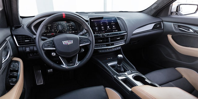 A six-speed manual transmission is available on the CT5-Blackwing.