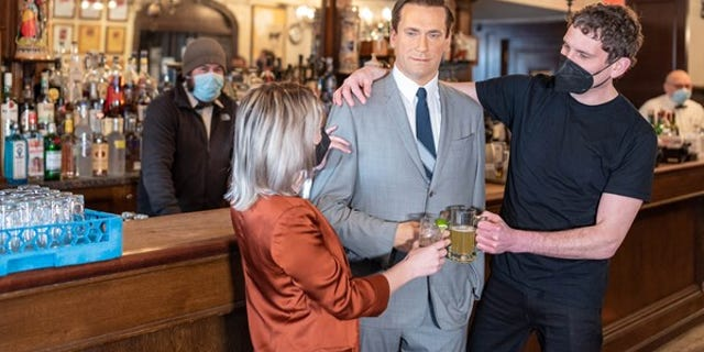 Peter Luger teamed up with Madame Tussauds wax museum to bring figures like Jon Hamm (above) to its dining room. (Madame Tussauds)