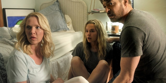 Heigl, Iseman, and Connick, Jr. in a scene from 'Fear of Rain.'