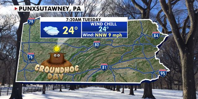Condições meteorológicas na Pensilvânia para o Dia da Marmota.  (Notícias da raposa)