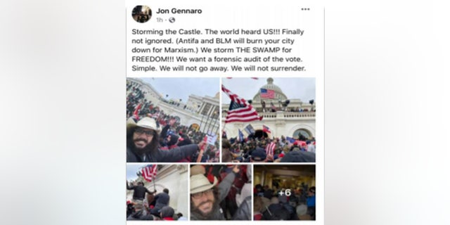 A screenshot of a Facebook post by Mellis shared in court documents showed him allegedly rejecting BLM and Antifa credit for the insurrection.