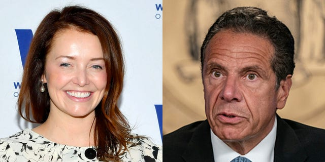 Gov. Andrew Cuomo (right) has been accused of sexual harassment by Lindsey Boylan, his former deputy secretary and special adviser. (Getty Images)