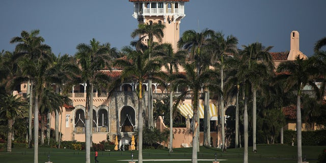Former U.S. President Trump's Mar-a-Lago resort in Palm Beach, Fla., Feb. 8, 2021. (REUTERS/Marco Bello)